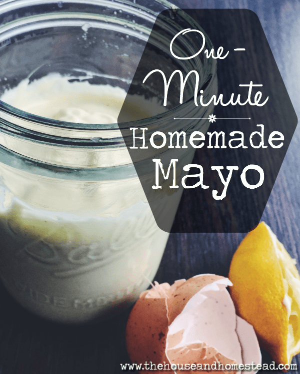 This homemade mayo uses real, whole, simple ingredients and takes just one minute to make from scratch. You'll never buy mayonnaise from the store again. #homemademayo #homemademayonnaise #mayonnaiserecipe #healthymayorecipe
