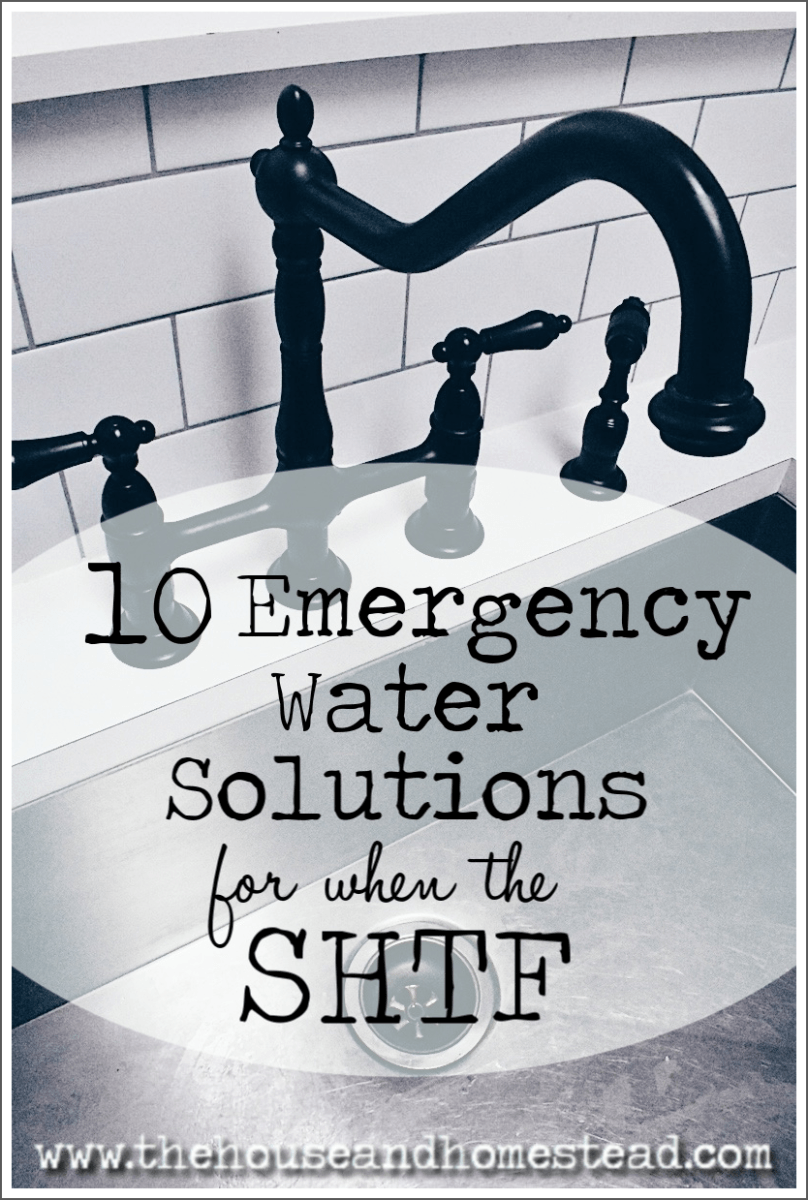 Water is our most important resource. Don't be caught without it in an emergency! Here are 10 emergency water solutions to help you become more water secure and prepared for a water emergency. #emergencywater #waterstorage #waterprepping #watersecurity