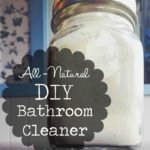 All-Natural DIY Bathroom Cleaner | This all-natural DIY bathroom cleaner for sink, toilet and tub is quick and easy to make with ingredients you probably already have on hand!