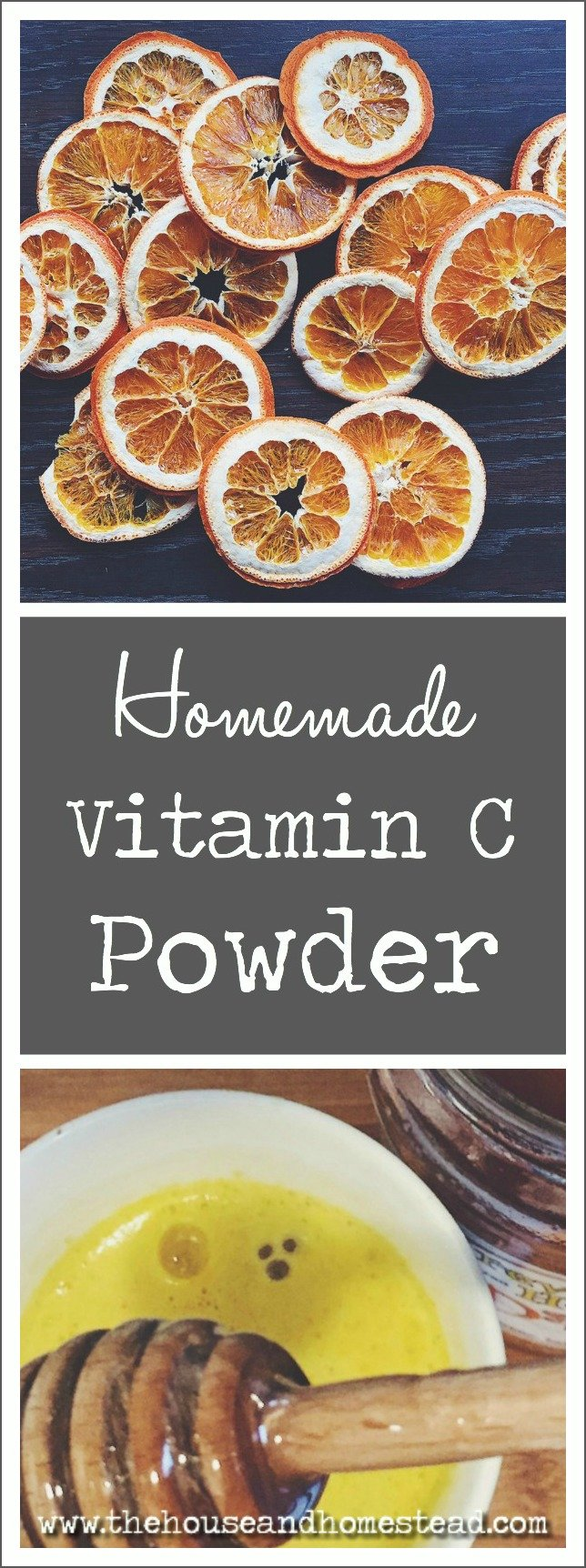 Homemade Vitamin C Powder | Make homemade, all-natural Vitamin C Powder with just one ingredient: oranges!