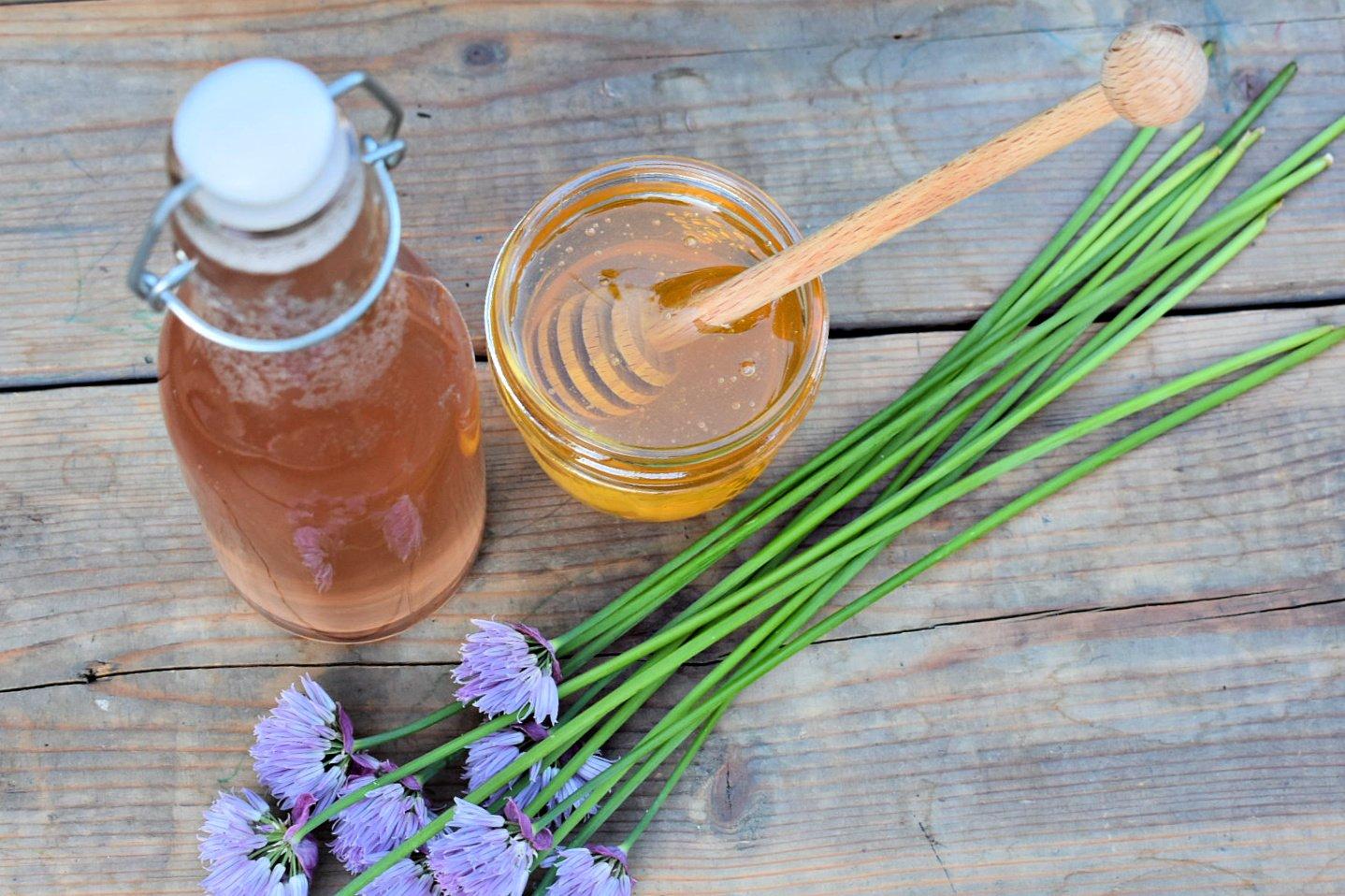 Honey & Chive Blossom Vinaigrette