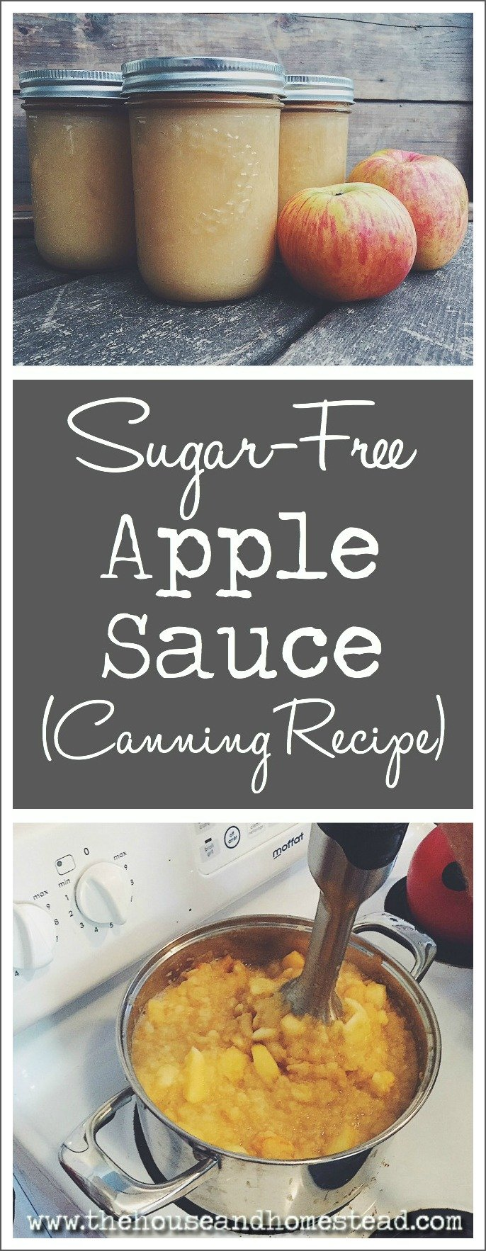 This sugar-free homemade applesauce is great for baking, baby food or eating straight out of the jar. It can be stored in the freezer or canned for long-term storage in the pantry.