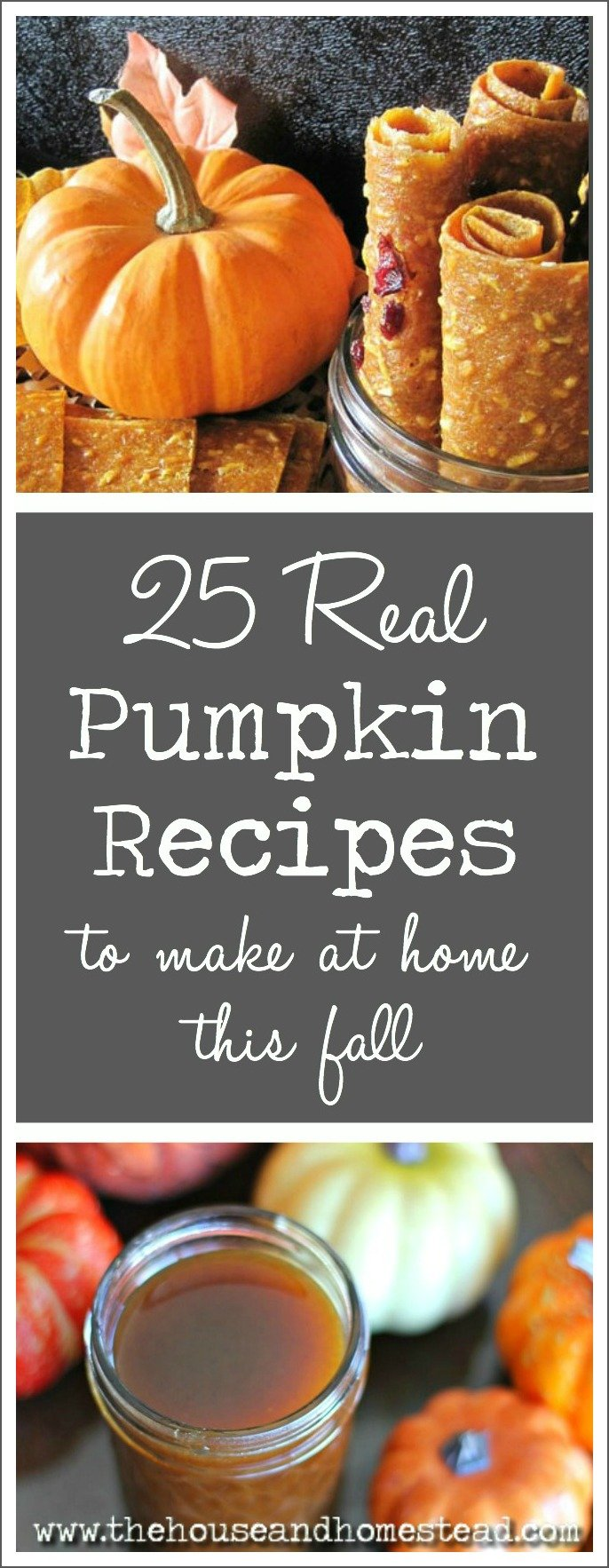 The pumpkin and pumpkin spice craze has taken over our fall food products over the past few years. But hardly any of those store-bought food products contain actual pumpkin! Put the pumpkin back in your favourite fall foods with these 25 real pumpkin recipes for fall.