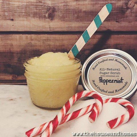 All-Natural Peppermint Sugar Scrub