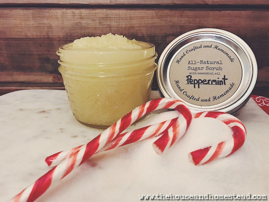 This all-natural peppermint sugar scrub is one of the quickest, easiest, most frugal homemade gifts ever. And you can make it entirely out of things you probably have on hand already!