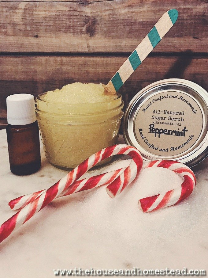 This all-natural homemade sugar scrub is one of the quickest, easiest, most frugal homemade gifts ever. And you can make it entirely out of things you probably have on hand already!