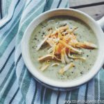 This rich and creamy broccoli leaf soup tastes just like traditional cream of broccoli soup, but utilizes the leaves of the broccoli plant instead!