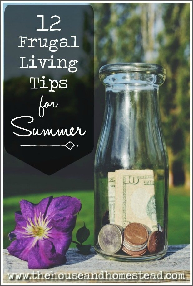 Summer is the perfect time of year to live more frugally. Here are 12 frugal living tips for summer that will save you money & even put a little extra in the bank. #frugalliving #frugalsummer #frugaltips #frugalsummertips