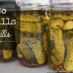These quick dill pickles are covered in a vinegar brine and taste a lot like store-bought dills! The perfect accompaniment to burgers, platters and so much more! #dillpickles #pickles #homemadepickles