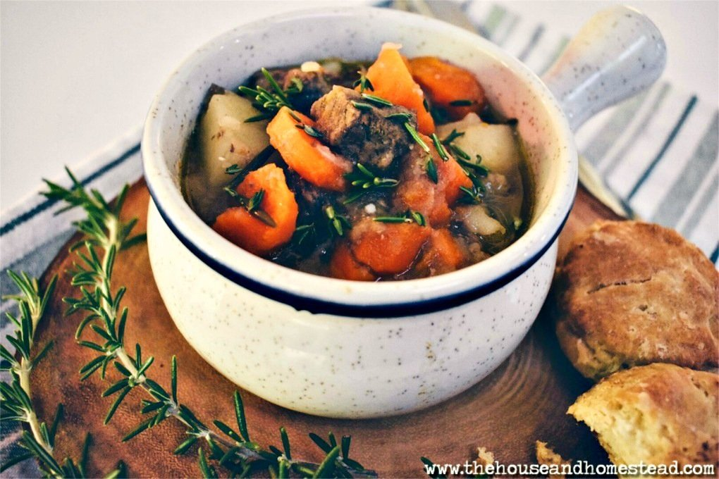 This quick and hearty beef stew strikes the perfect balance between sticking to your ribs and warming your belly on a cold autumn or winter night, and keeping you full without weighing you down. The broth naturally thickens up with a little cooking time but no extra thickeners are added, putting a lighter twist on this classic beef stew recipe. #beefstew #fallmeals #wintermeals #weeknightmeals #sundaydinner