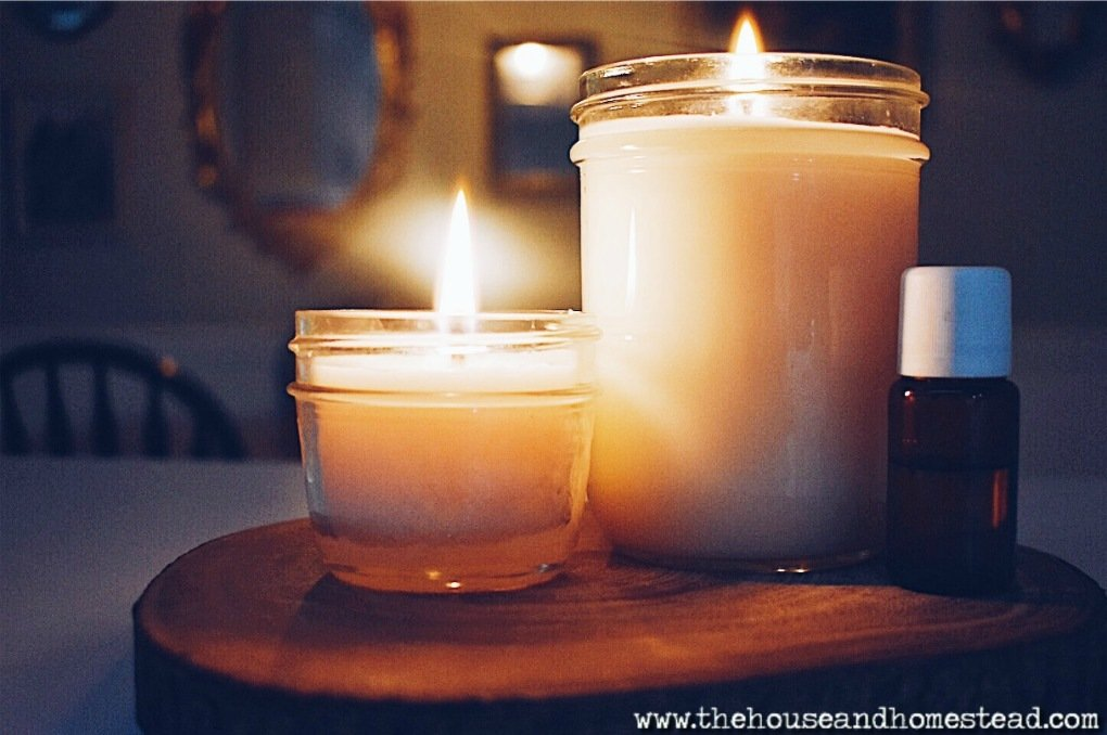 Homemade Soy Candles with Essential Oils