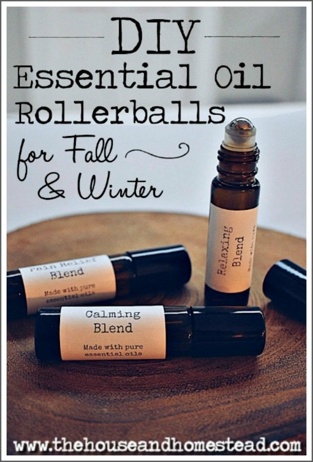 20+ essential oil rollerballs for fall and winter. Includes DIY essential oil rollerball recipes specifically tailored for the fall, winter and holiday season, but can be used all year round! #essentialoilblends #essentialoilrollerballs #diyrollerballs #essentialoilchristmasgifts #homeremedies