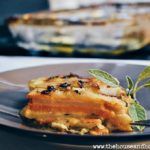 These mixed russet and yam scalloped potatoes smothered in sage cream sauce and topped with Gruyère cheese put a decadent twist on a classic holiday side dish. They're guaranteed to leave your dinner guests raving until your next dinner party! #holidaydinnerideas #thanksgivingdinnerideas #christmasdinnerideas #scallopedpotatoes #yamscallopedpotatoes #scallopedsweetpotatoes