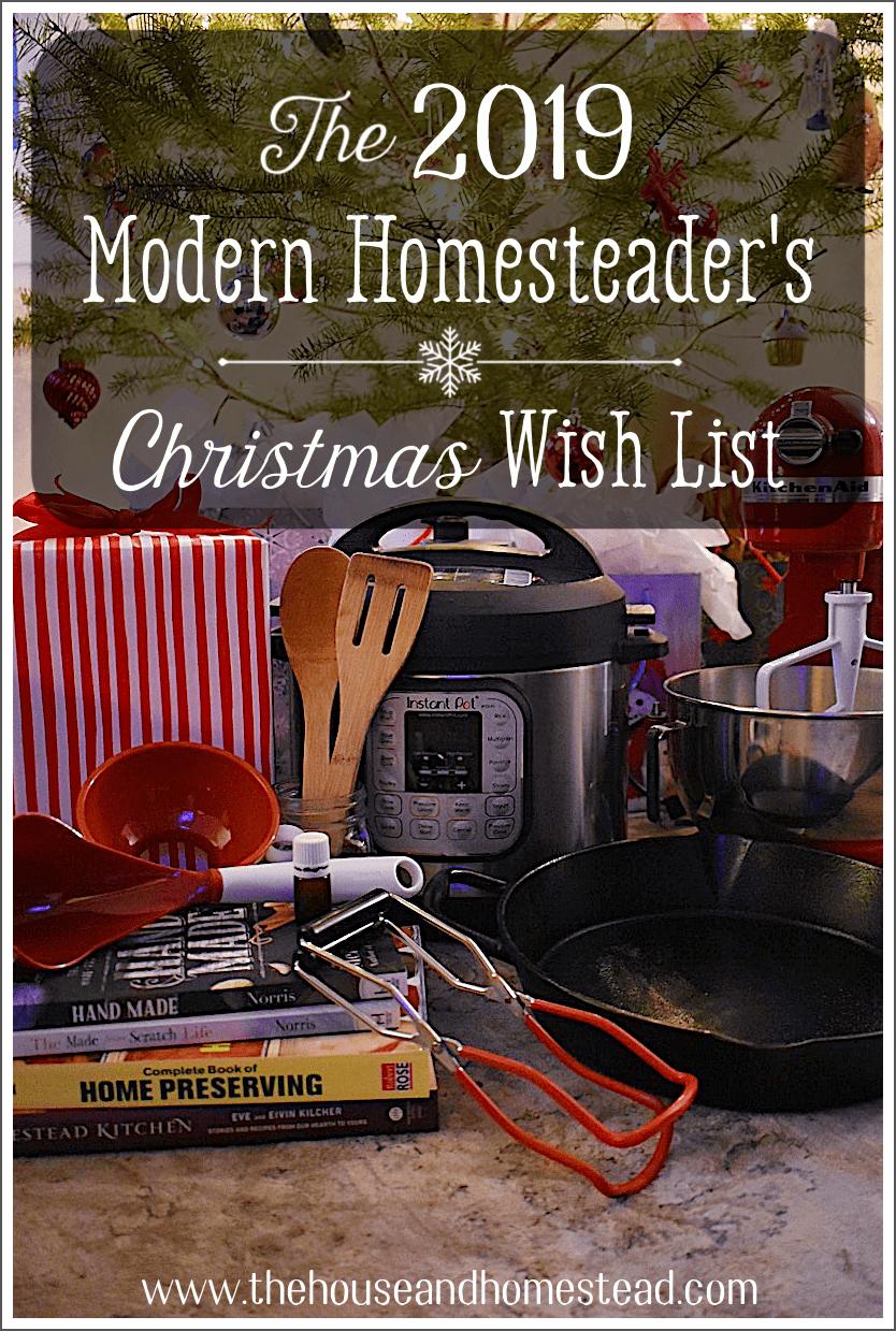 Modern homesteader's Christmas wish list | Christmas gifts for modern homesteaders } Christmas gifts for homesteaders