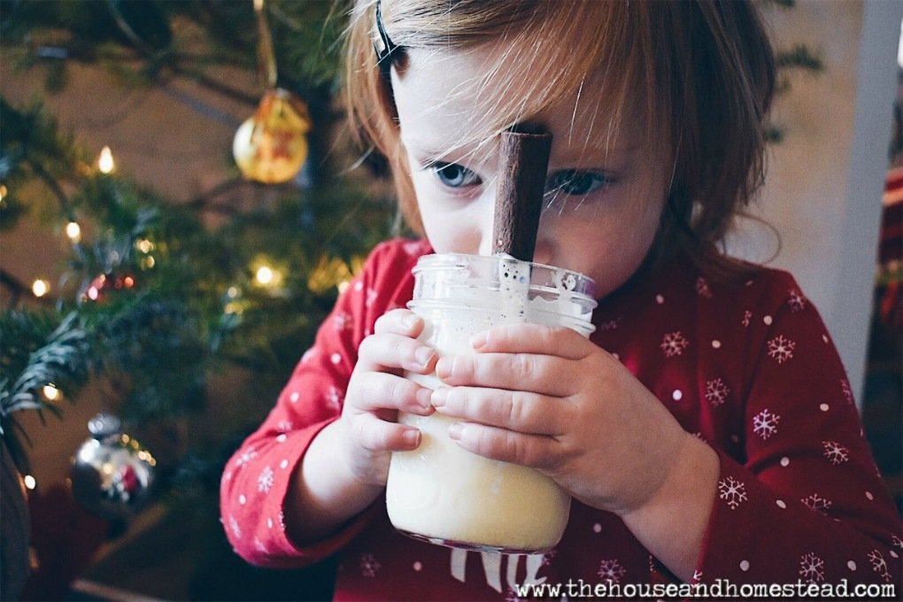 This old-fashioned homemade eggnog recipe is quick, easy and made from real, whole, all-natural ingredients. You'll never drink store-bought eggnog again! #homemadeeggnog #oldfashionedeggnog #classiceggnog #eggnogrecipe