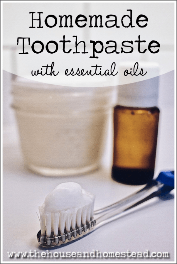 This all-natural homemade toothpaste recipe is made with just four simple ingredients that are good for both your body and your bank account! Ditch the toxic ingredients in store-bought toothpaste and make your own toothpaste at home with all-natural ingredients and essential oils. #homemadetoothpaste #diytoothpaste #naturaltoothpaste #coconutoiltoothpaste