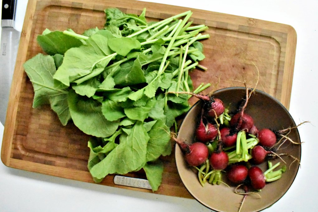Radishes and radish greens