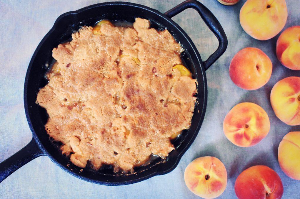 Vanilla & Brown Butter Peach Cobbler Recipe