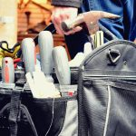 Whether you're an expert handyman or a fledgling fixer-upper, here are 15 essential tools for every home toolkit to keep on hand for minor repairs and odd jobs around the home, plus how to use each tool! #essentialtools #toolsfordiy #hometoolkit #diyhometoolkit