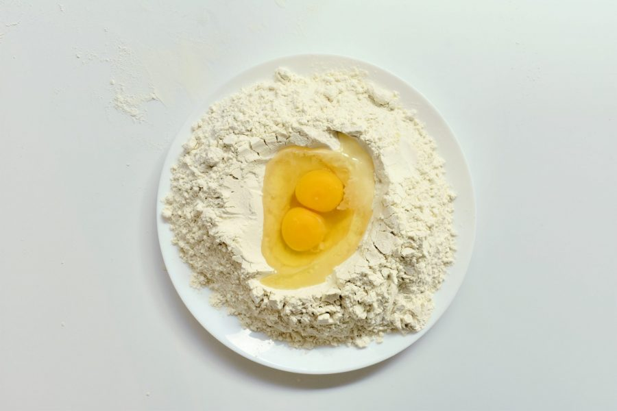 Eggs and flour | Homemade Pasta (Without A Pasta Maker)