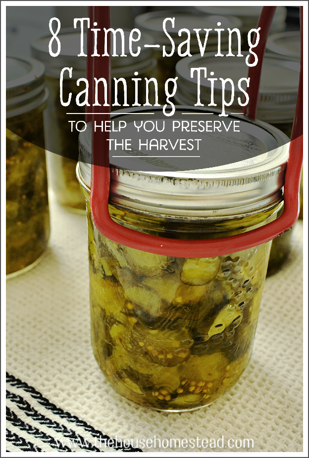 Canning and preserving food is rewarding, but can be time-consuming. Follow these time-saving canning tips to save time while puttin' up the harvest! #timesavingcanningtips #canningfood #homecanning #preserving