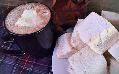 Homemade Marshmallows With Vanilla & Maple Syrup