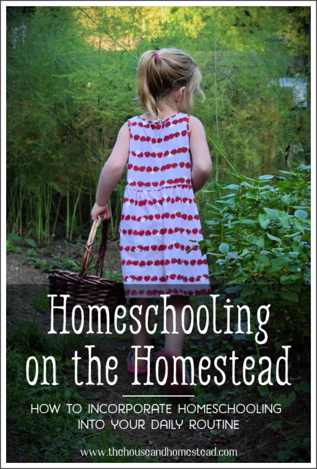 Homeschooling on the homestead is the new normal due to the COVID-19 pandemic. Here are some tips to help you incorporate homeschooling into your daily routine on the homestead. #homesteadhomeschooling #homeschoolingonthehomestead