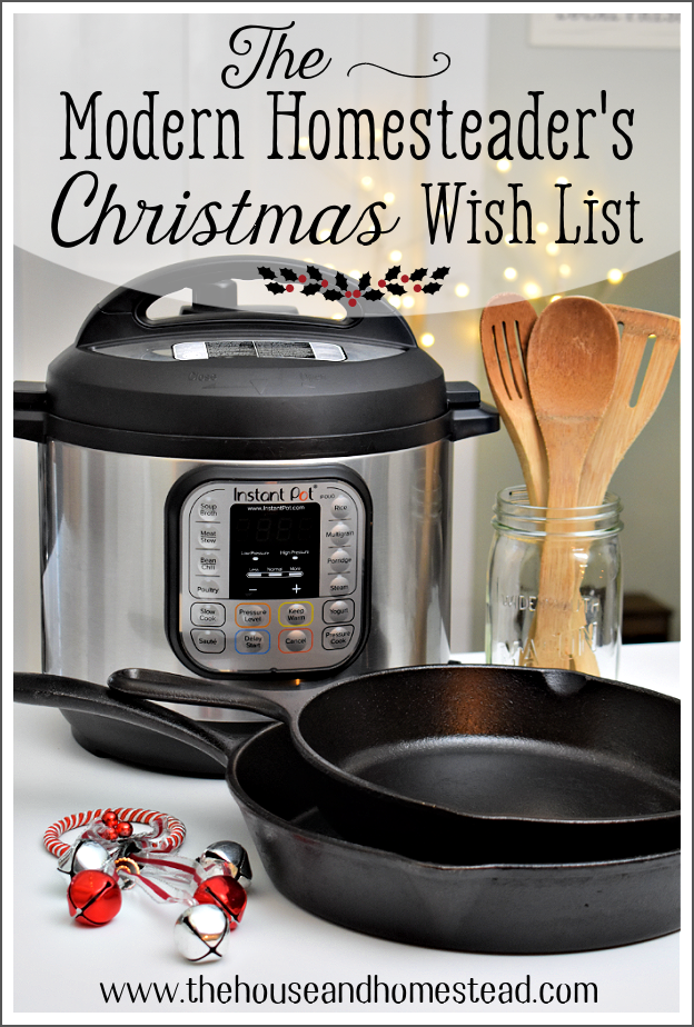 From kitchen gadgets to books to home and body products and more, find the perfect gift for the homesteader in your life with the modern homesteader's Christmas wish list! (aka. My favourite things;)
