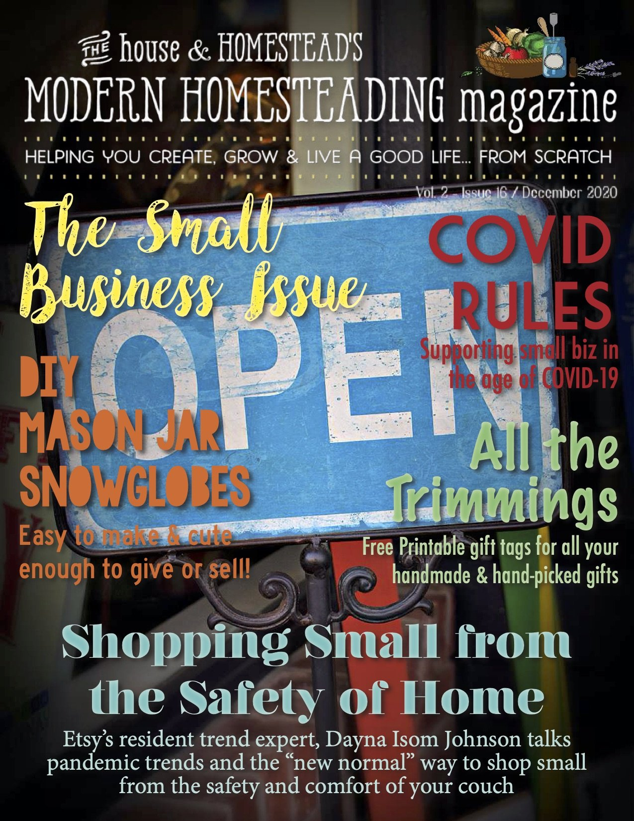 Modern Homesteading Magazine | The Small Business Issue | December 2020