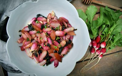 Roasted Radishes With Honey Butter & Thyme
