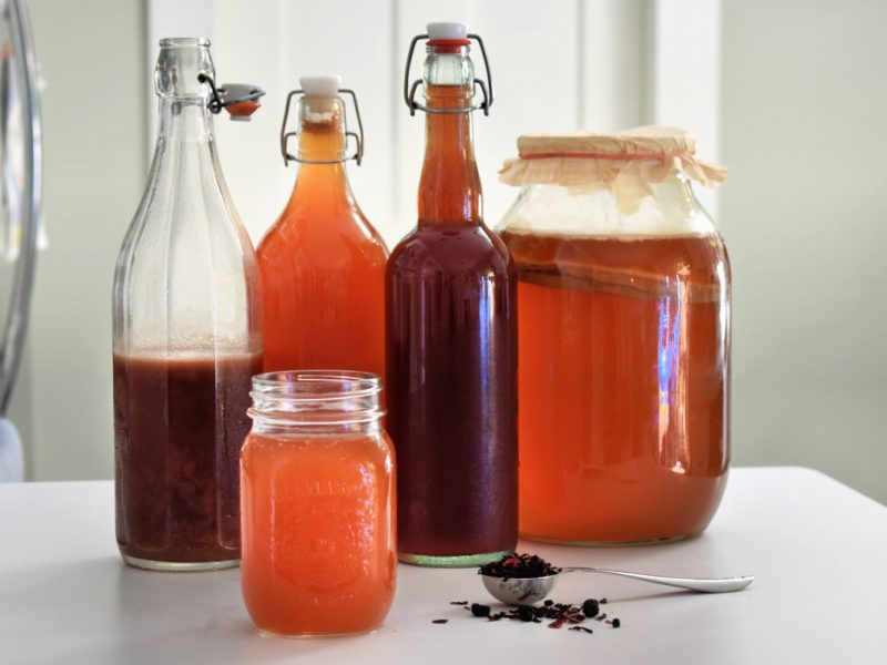 Kombucha is one of the healthiest drinks on the planet (besides water), but storebought kombucha is SO expensive! Learn how to make kombucha at home for a fraction of the price, plus get as creative as you like with custom flavours! Homemade kombucha is healthy, affordable, delicious and easy to make. Here's everything you need to know to get started! #homemadekombucha #howtomakekombucha #kombucharecipe