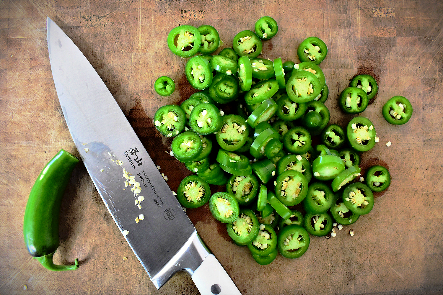 These easy fermented jalapeños are a great way to add a little spicy heat to any dish along with a healthy dose of probiotics. And all you need are three simple ingredients: water, salt and fresh jalapeños!